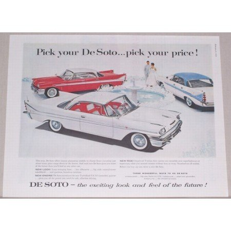 1958 DeSoto Automobile Color Print Car Ad  - Pick Your DeSoto