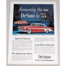 1955 DeSoto Firelite Automobile Color Print Car Ad