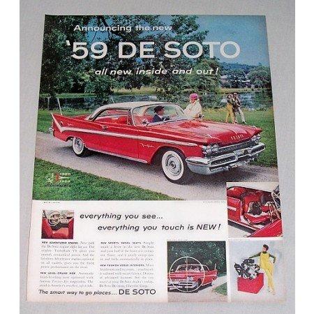 1959 De Soto Fireflite 2DR Hardtop Automobile Color Print Car Ad