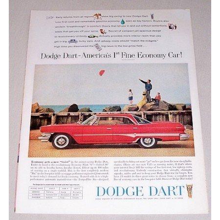 1960 Dodge Dart 4 Door Automobile Color Print Car Ad
