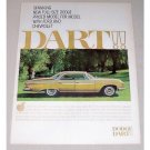1961 Dodge Dart Automobile Color Print Car Ad
