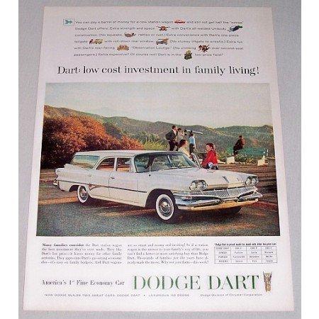 1960 Dodge Dart Station Wagon Automobile Color Print Car Ad