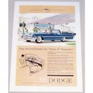 1959 Dodge Royal Sedan Automobile Color Print Car Ad - Tunes In