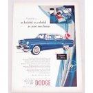 1954 Dodge Royal Sedan Automobile Color Print Car Ad