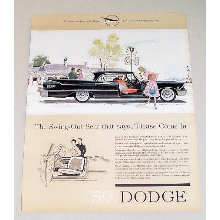 1959 Dodge Custom Royal Automobile Color Print Car Ad