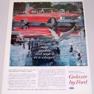 1962 Ford Galaxie 500 Automobile Art Color Print Car Ad