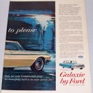 1961 Color Print 2 Page Ad for 1962 Ford Galaxie 500 Automoibile