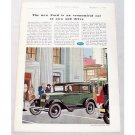 1931 Ford Tudor Sedan Automobile Color Print Car Ad