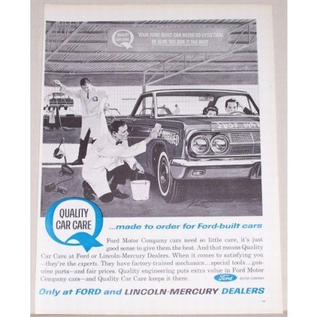 1963 Ford Quality Car Care Vintage Print Ad