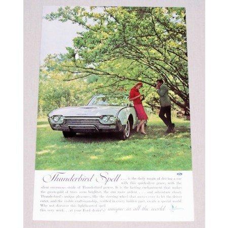 1961 Ford Thunderbird Automobile Color Print Car Ad - T-Bird Spell