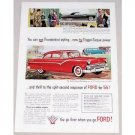 1955 Ford Fairlane Club Sedan Automobile Color Print Car Ad