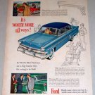 1953 Ford 4Dr Custom Sedan Automobile Color Print Car Ad
