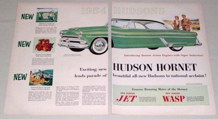 1953 Color Print Car Ad for 1954 Hudson Hornet Hollywood Automobile