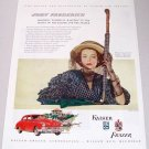 1948 Kaiser Frazier Sedan Automobile Color Print Car Ad - John Frederics
