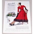 1947 Kaiser Frazer Automobile Art Color Print Car Ad - Norman Norell
