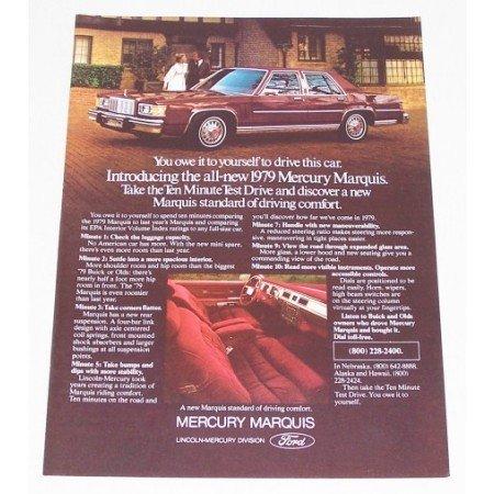 1979 Mercury Marquis Automobile Color Print Car Ad