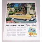 1952 Nash Ambassador Custom 4 Door Automobile Color Print Car Ad