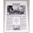 1927 Nash Special Six Cabriolet Automobile Vintage Print Car Ad