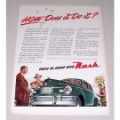 1946 Nash Automobile Color Art Print Car Ad - How Does It Do It?