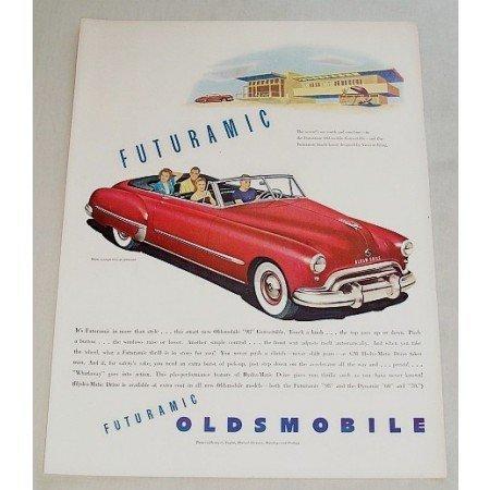 1948 Oldsmobile Convertible Automobile Art Color Print Car Ad