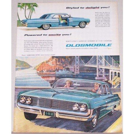 1962 Oldsmobile Dynamic 88 Automobile Color Print Car Ad