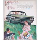 1962 Oldsmobile F-85 Automobile Art Color Print Car Ad - Picnic To Drive