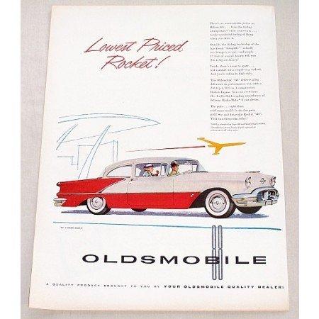 1956 Oldsmobile 88 2DR Sedan Automobile Color Print Car Ad