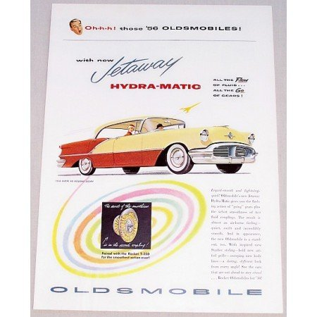 1956 Oldsmobile Super 88 Holiday Sedan Automobile Color Print Car Ad