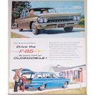1961 Oldsmobile F-85 Automobile Color Print Car Ad