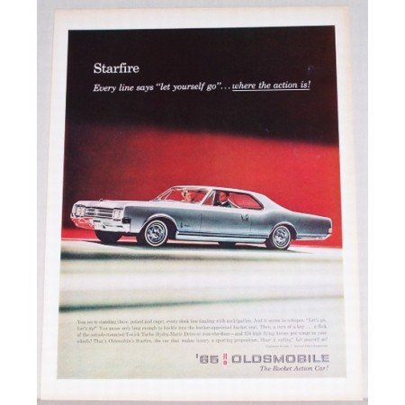 1965 Oldsmobile Starfire 2 Door Automobile Color Print Car Ad