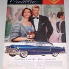 1955 Cadillac 4Dr Automobile Color Print Car Ad