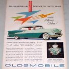 1955 Oldsmobile Super 88 Holiday Coupe Automobile Color Print Car Ad