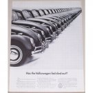 1966 VW Volkswagen Automobile Vintage Print Car Ad - Fad Died Out?