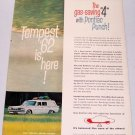 1961 Color Print 2 Page Car Ad for 1962 Pontiac Tempest Automobile