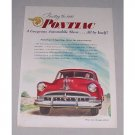 1949 Pontiac Custom Sedan Automobile Color Print Car Ad