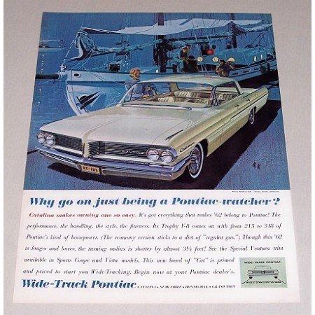 1962 Pontiac Catalina VK AF Art Automobile Color Print Car Ad