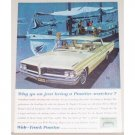 1962 Pontiac Catalina Automobile Color Print Car Ad