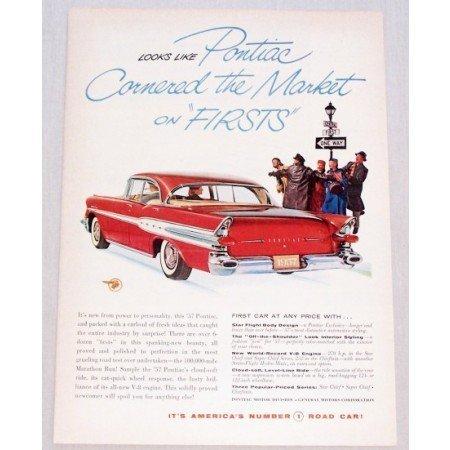 1957 Pontiac Star Chief Automobile Color Print Car Ad