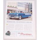 1955 Pontiac Sedan Automobile Car Automobile Color Print Car Ad