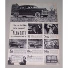 1949 Plymouth 4Dr Sedan Automobile Vintage Print Car Ad