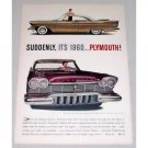 1956 Plymouth Automobile Color Print Car Ad - Suddenly It's 1960