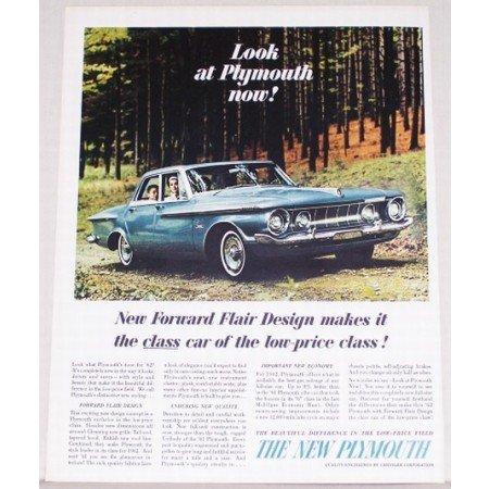 1962 Plymouth Fury 4 Door Automobile Color Print Car Ad