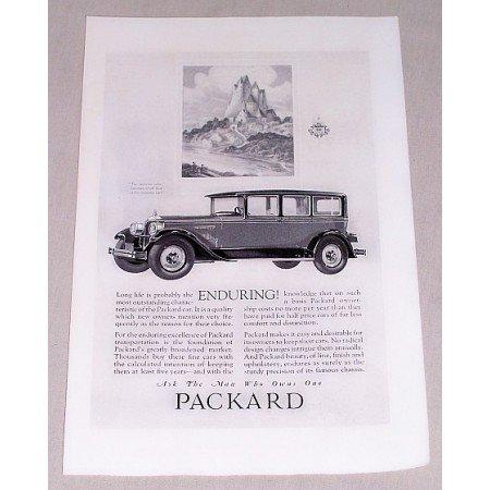 1925 Packard 4 Door Automobile Vintage Print Car Ad - Enduring