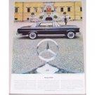 1962 Mercedes Benz 200 SE Coupe Automobile Color Print Car Ad
