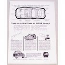 1962 Swedish Saab 96 Automobile Vintage Print Car Ad - Saab Safety