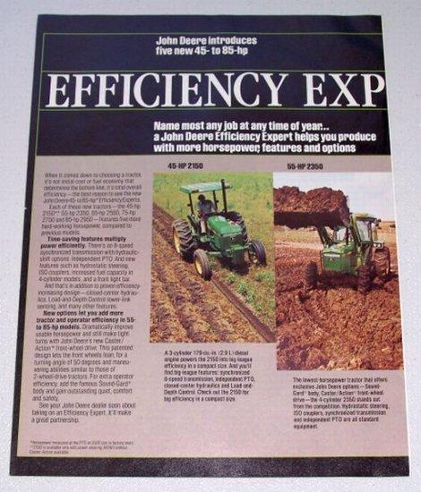 1982 JOHN DEERE Farm Tractor 4 Page Vintage Color Print Ad