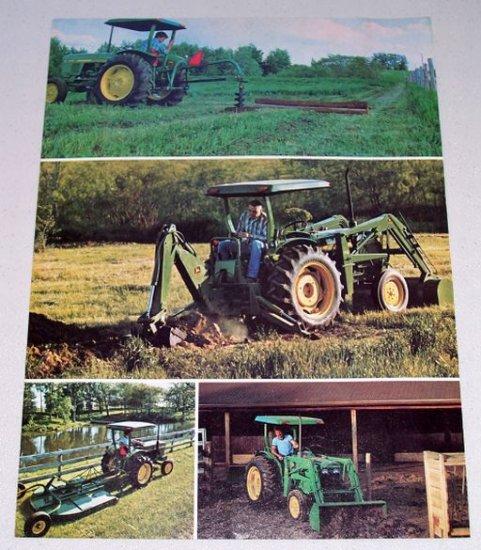 1980 JOHN DEERE Little Big Diesel Tractors 2 Page Color Print Vintage Ad