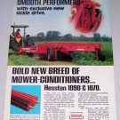 1980 HESSTON Mower Conditioner Farm Implements Vintage Color Print Ad