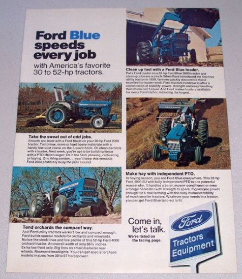 1973 FORD Farming Tractors Vintage Color Print Ad
