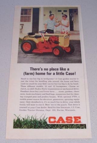 1966 CASE 150 Garden Tractor Mower Color Print Ad